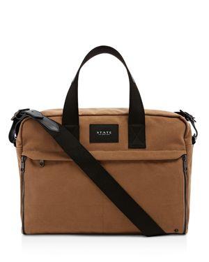 State Canvas Preson Brief Messenger Bag