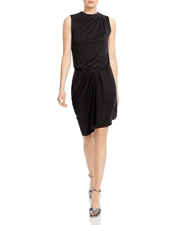 $HALSTON HERITAGE Draped Jersey Dress - Bloomingdale's