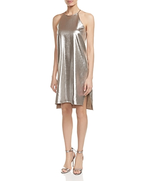Halston Heritage Metallic Jersey Slip Dress