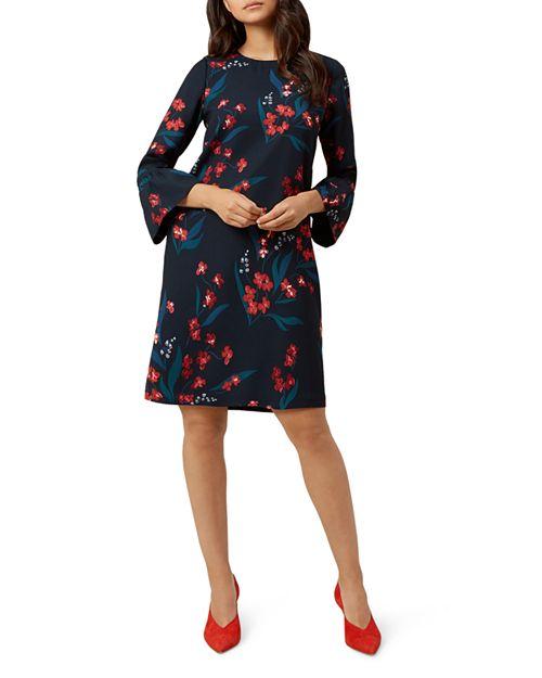 HOBBS LONDON - Flora Fluted-Cuff Dress