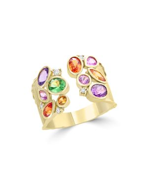 Multicolor Sapphire, Diamond and Tsavorite Ring in 14K Yellow Gold - 100% Exclusive