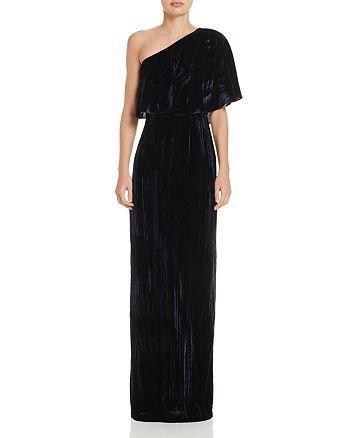Adrianna Papell - One-Shoulder Velvet Gown