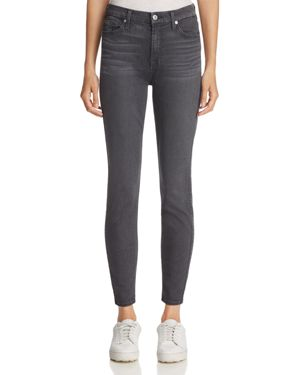 7 For All Mankind b(air) Ankle Skinny Jeans in b(air) Smoke