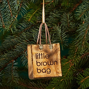 Joy to the World Bloomingdale's Little Brown Bag Glass Ornament - 100% Exclusive