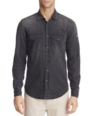 Belstaff Someford Denim Button-Down Long Sleeve Shirt