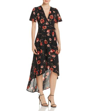 Cotton Candy La Floral Print Wrap Dress