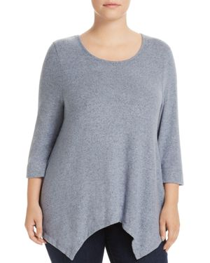 B Collection by Bobeau Curvy Langley Brushed Handkerchief Top