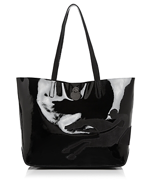 Longchamp Shop It Medium Patent Leather Tote
