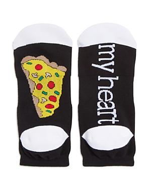 Sock Art Pizza My Heart Ankle Socks