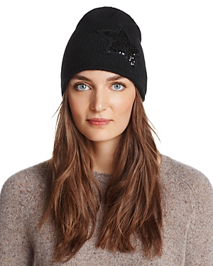 Aqua Sequin Star Knit Cap - 100% Exclusive