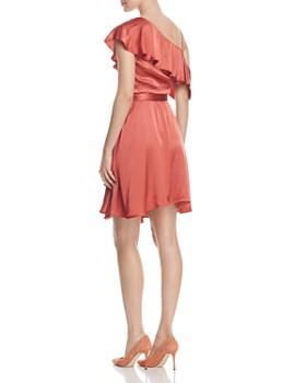 WAYF - Rachelle Satin One-Shoulder Wrap Dress - 100% Exclusive
