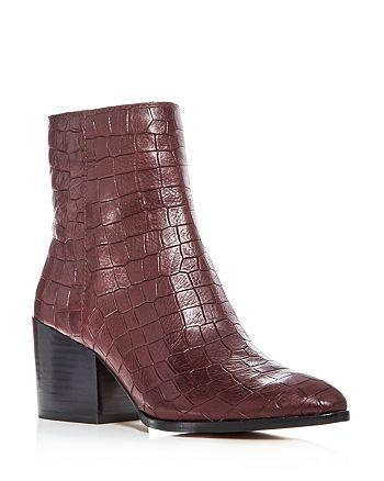 aa2eac6d664 1.STATE Women s Jahmil Croc Embossed Leather High Block Heel Booties ...