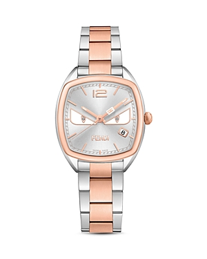 Fendi Momento Bugs Two Tone Watch, 31.5mm