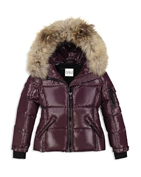 ad1fad1d13032 Girls  Blake Fur-Trimmed Down Jacket - Big Kid ...