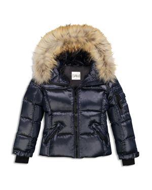 Sam. Girls' Fur-Trimmed Down Jacket - Big Kid
