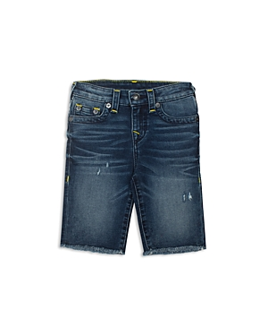 True Religion Boys Lightly Distressed Denim Shorts  Big Kid
