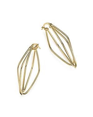 14K Yellow Gold Diamond-Shaped Overlap Earrings - 100% Exclusive