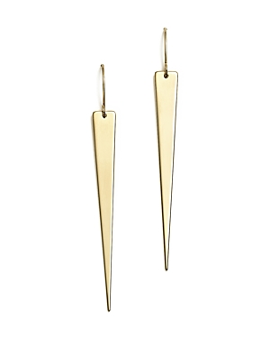 14K Yellow Gold Triangle Drop Earrings - 100% Exclusive