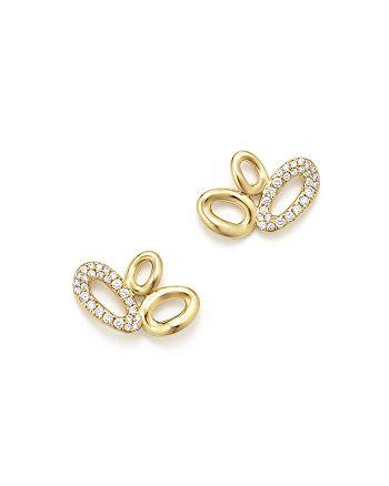 IPPOLITA - 18K Yellow Gold Cherish Diamond Link Cluster Earrings