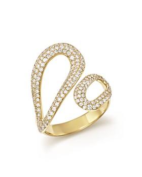 IPPOLITA - 18K Yellow Gold Cherish Diamond Bypass Ring