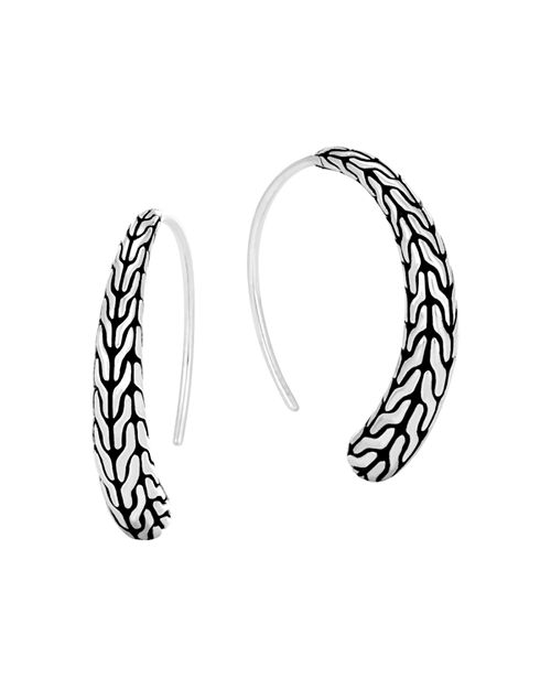 John Hardy - Sterling Silver Classic Chain Silver Small Sweep Earrings