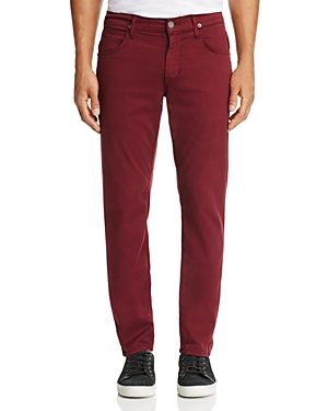 Hudson Blake Slim Straight Fit Jeans in Burgundy