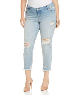 Slink Jeans Easy Fit Boyfriend Jeans in Acid Wash thumbnail