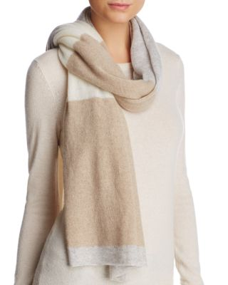 C By Bloomingdale's C BY BLOOMINGDALE'S STRIPE OVERSIZED CASHMERE WRAP - 100% EXCLUSIVE