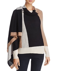 C by Bloomingdale's Stripe Oversized Cashmere Wrap - 100% Exclusive_0