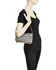 Zadig & Voltaire - Leopard Print Glitter Leather Clutch