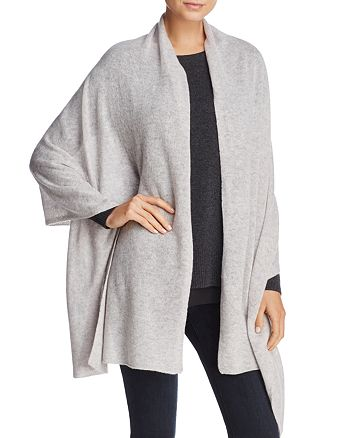 C by Bloomingdale's - Solid Oversized Cashmere Wrap - 100% Exclusive