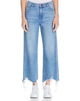 DL1961 - Hepburn High-Rise Wide-Leg Jeans in Slate