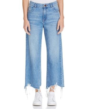 DL1961 Hepburn High-Rise Wide-Leg Jeans in Slate