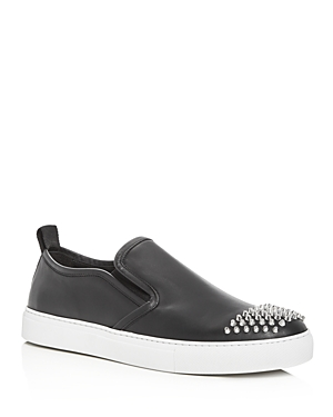 McQ Alexander McQueen Men's Chris Studded Leather Slip-On Sneakers