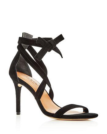 HALSTON HERITAGE - Women's Diana Suede Ankle Tie High-Heel Sandals