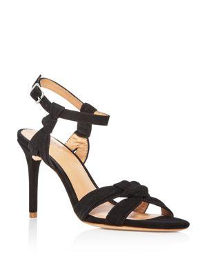 Halston Heritage Women's Melanie Suede Knotted High-Heel Sandals