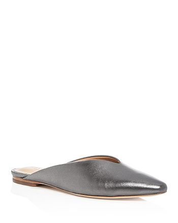 HALSTON HERITAGE - Women's Taye Leather Pointed Toe Mules
