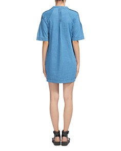 Whistles - Denim Pin-Tuck Detail Mini Dress