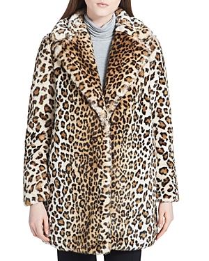 Calvin Klein Faux-Fur Leopard Coat