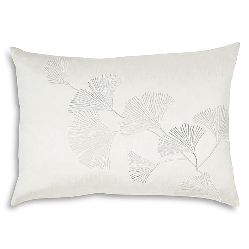 "Michael Aram - Ginkgo Leaf Embroidered Decorative Pillow, 14"" x 20"""