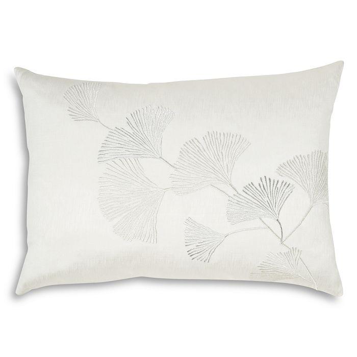 "Michael Aram - Ginkgo Leaf Embroidered Decorative Pillow, 14"" x 20"""