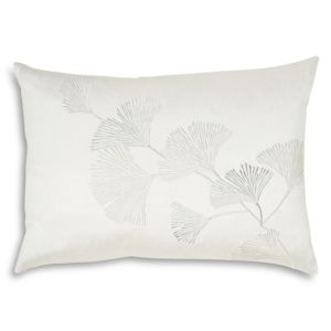 Michael Aram Ginkgo Leaf Embroidered Decorative Pillow, 14 x 20