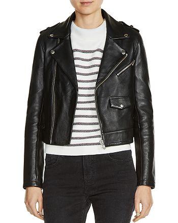 Maje - Baltika Leather Biker Jacket