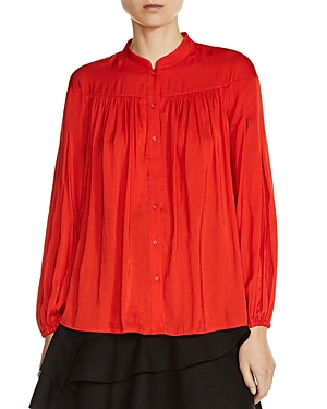 Maje Cusmia Pleated Shirt