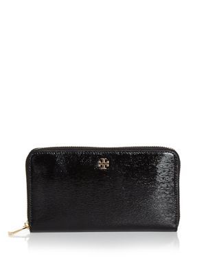 Tory Burch Robinson Zip Patent Leather Continental Wallet 2709949