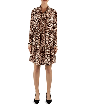 Gerard Darel Naelle Animal-Print Silk Dress