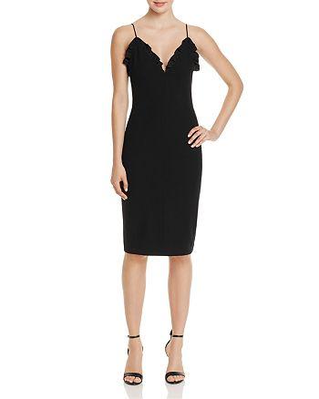 Black Halo - Biscane Ruffle-Trim Dress