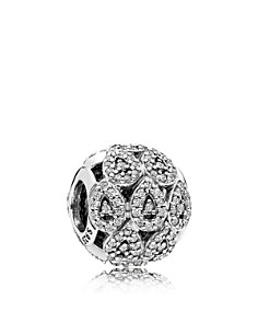 PANDORA Sterling Silver & Cubic Zirconia Cascading Glamour Charm - Bloomingdale's_0