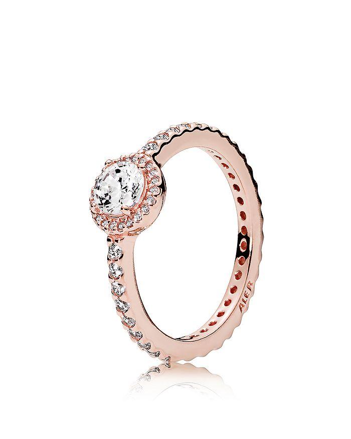PANDORA - Ring - Sterling Silver & Cubic Zirconia Rose Classic Elegance