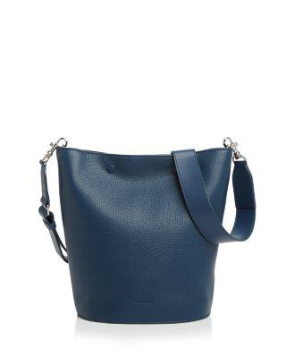 STEVEN ALAN RHYS LEATHER BUCKET BAG - BLUE
